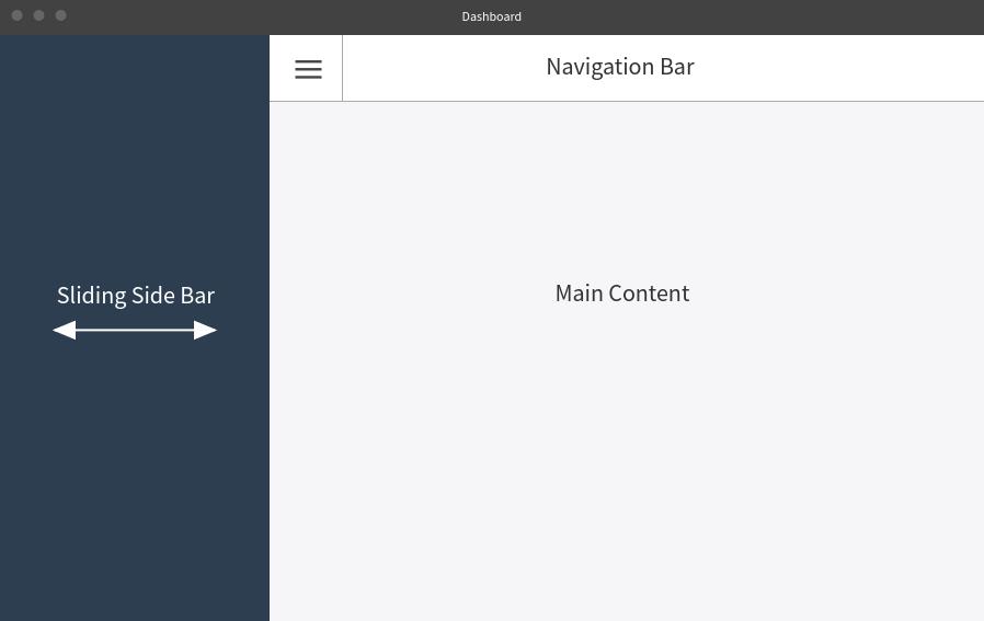 Angular dashboard layout wireframe